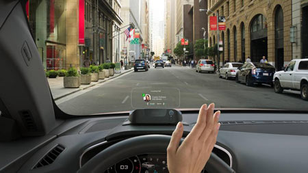 A new automotive frontier called augmented reality will display details – from speed to maps to e-mail – on the windshield