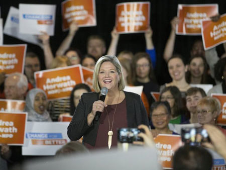 Ontario NDP leader Andrea Horwath launches her campaign to become Ontario's next Premier and committed to defeat Premier Kathleen Wynne and new Ontario PC leader Doug Ford at the Marriott Hotel in downtown Toronto, Ont. on Saturday March 17, 2018. Stan Behal/Toronto Sun/Postmedia NetworkStan Behal / Stan Behal/Toronto Sun