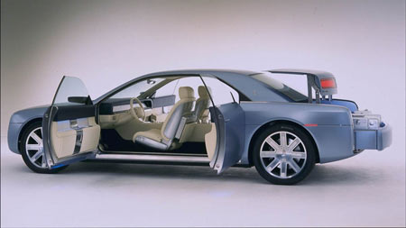 A 2002 Lincoln Continental concept car featured 'suicide' doors, but it was never put into production.  (Lincoln)