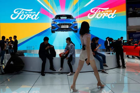 Ford Motor Co. reported Monday that sales in China fell 26% in 2019 as the company pushed to freshen an aging lineup with new vehicles catered toward Chinese buyers. (Photo: Ng Han Guan, AP)