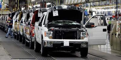 2009 Ford F-150 trucks are ready to leave the assembly line at the Dearborn Truck Assembly in Michigan in this October 2008 file photo