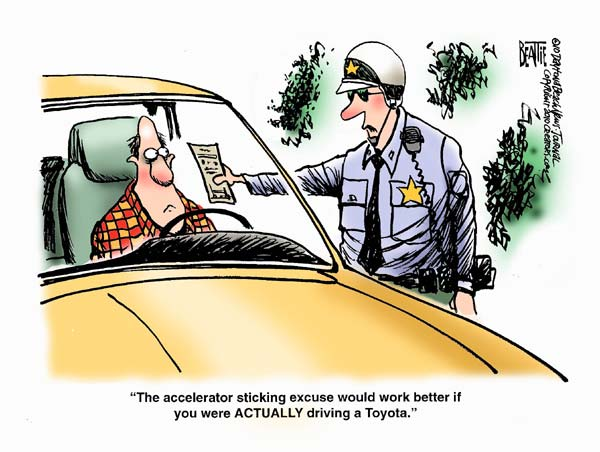 Toyota Recall Cartoons